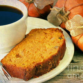 Pumpkin bread and Coffee by Darren Fisher
