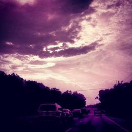 #purple #sky #clouds #driving