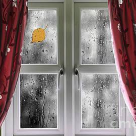 Simon Bratt Photography LRPS - Rain on a window with curtains