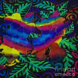 Dye n  Design - Rainbow flowers