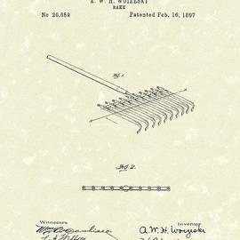 Prior Art Design - Rake Design 1897 Patent Art