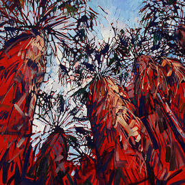 Red Borrego Palms by Erin Hanson