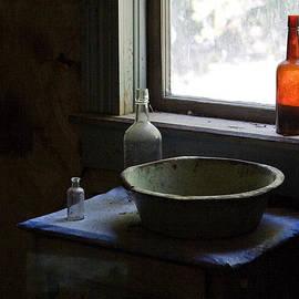 Red Bottle Night Stand by Lorraine Devon Wilke