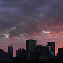 Red Skyline Edmonton by David Kleinsasser