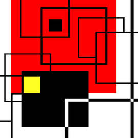 Ginny Schmidt - Red Square a la Mondrian