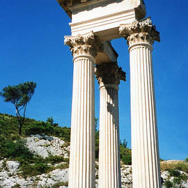 Roman Columns Of Glanum by C Sitton