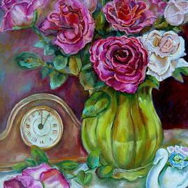 Roses In A Vase Still Life by Carole Spandau
