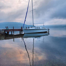 Sailboat And Lake I by Steven Ainsworth