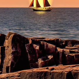 Bill Tiepelman - Sailing in Grand Marais