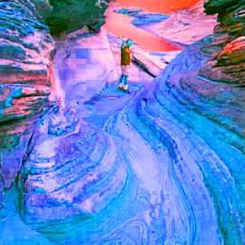 Val Oconnor - Scenic View in Blue