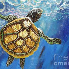 Sea Turtle Takes a Breath by Lisa Kramer