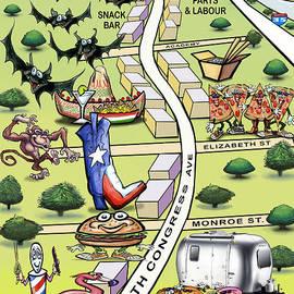 Kevin Middleton - SOCO South Congress Ave ATX Cartoon Map