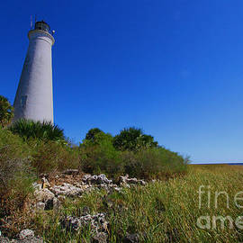 St Marks Lighthouse Along The Gulf Coastst by Barbara Bowen
