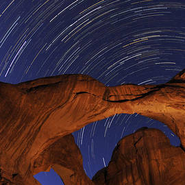 Craig Ratcliffe - Star trails over Double Arch