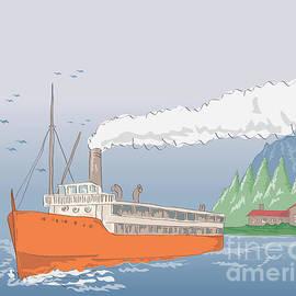 Aloysius Patrimonio - Steamship Steamboat Vintage