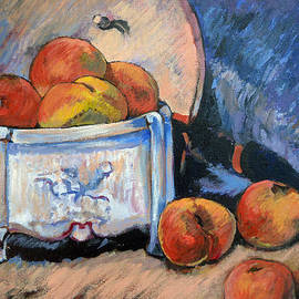 Still Life Peaches by Tom Roderick
