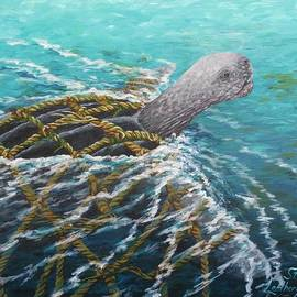 Katherine Young-Beck - Struggle -Leatherback Sea Turtle