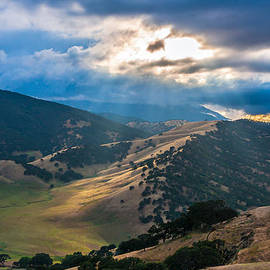 Sun Rays On Round Valley by Marc Crumpler