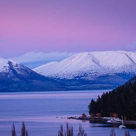 John White - Sunrise on Lake Wakatipu
