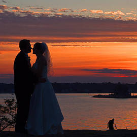 Sunset at night a wedding delight by David Freuthal