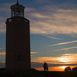 Sunset Lighthouse by David Freuthal