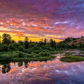 Sunset on Umpqua River