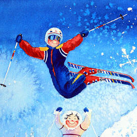 The Aerial Skier 19 by Hanne Lore Koehler