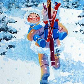 The Aerial Skier - 3 by Hanne Lore Koehler