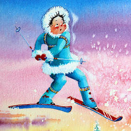 The Aerial Skier - 8 by Hanne Lore Koehler