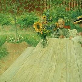 Carl Larsson - The First Lesson