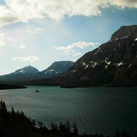 Jeff Swan - THREE MOUNTAINS ON MANY GLACIER LAKE