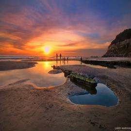 Ultra Low Tide Sunset At A North San
