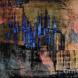 Urban City  Abstract by Elaine Manley