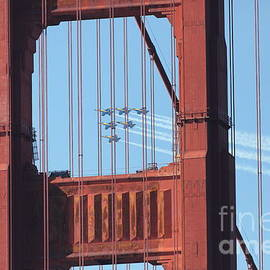 Wingsdomain Art and Photography - US Navy Blue Angels Beyond The San Francisco Golden Gate Bridge - 5D18954