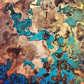 Verdigris texture