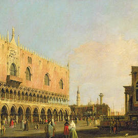 View of the Piazzetta San Marco Looking South by Canaletto