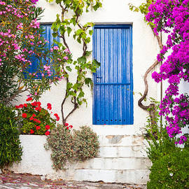 Village in Greece by Tom Gowanlock