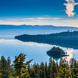 Walking The Tightrope Above Emerald Bay by Marc Crumpler