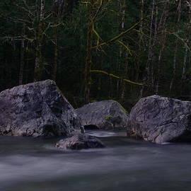Jeff Swan - WATER MOVING AROUND ROCK