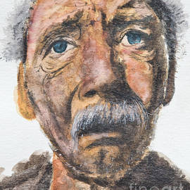 Watercolor Old Man by Kate Sumners