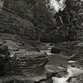 Watkins Glen in Black and White by Joshua House