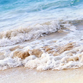 Waves breaking on tropical shore by Elena Elisseeva