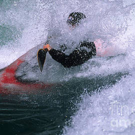 White Water Kayaker by Bob Christopher