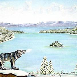 Wolf at Lake Tahoe by Jerome Stumphauzer