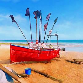 Alan Armstrong - # 2 Red Fishing Boat Ashore UK