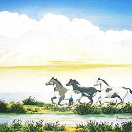 Indian Ponies by Jerome Stumphauzer