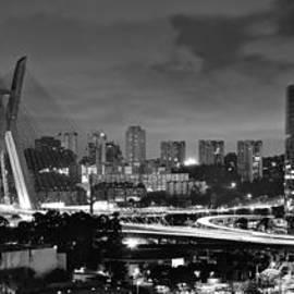 Carlos Alkmin -  Sao Paulo Iconic skyline - cable-stayed bridge - Ponte Estaiada
