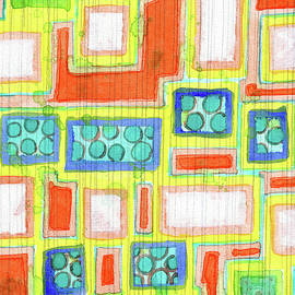 Heidi Capitaine - . Structured Beautiful Bright Pattern with Vertical Pencil Lines