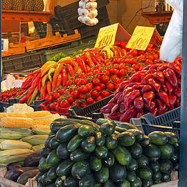Vegetable Stall by Tony Murtagh