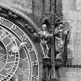 Karin Stein -   Historic clock in Prague with Death and Turk